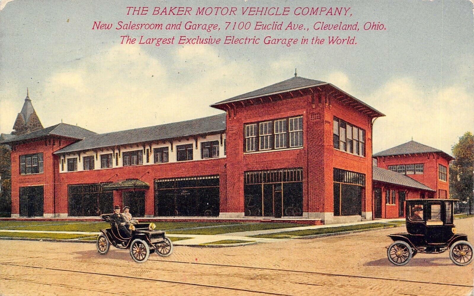 Cleveland Ohio Baker Motor Vehicle Car Dealership Pyramid Roofs C1910 Sharp Pc Ebay Car Dealership Motor Car Cleveland