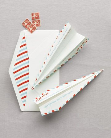 Paper Plane Save-the-Date
