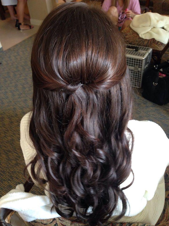 Pretty Half Up Half Down Hairstyles Partial Updo Wedding Hairstyle Simple Wedding Hairstyles Down Hairstyles Medium Hair Styles