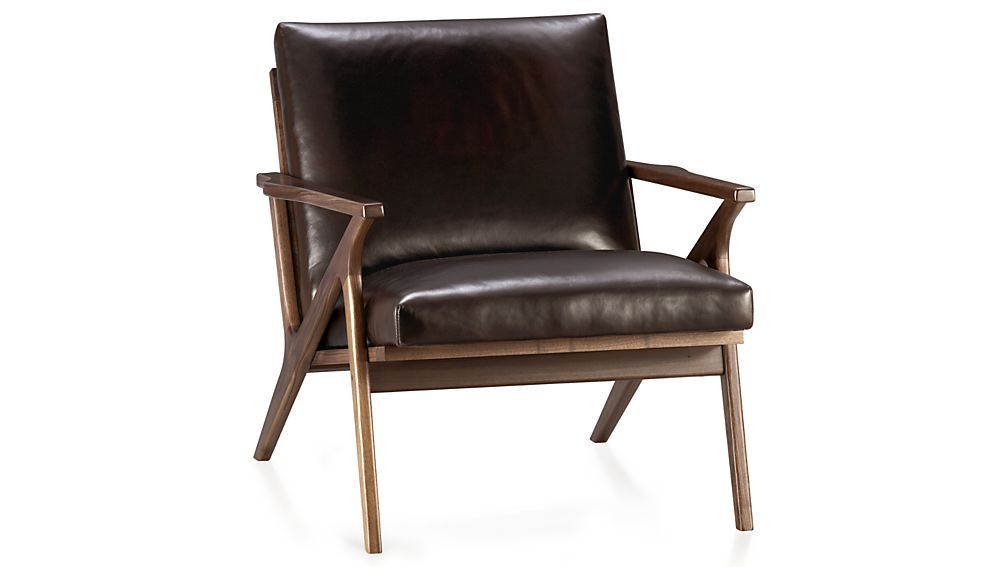 Cavett Leather Wood Frame Chair Living Room Chairs Chair Furniture