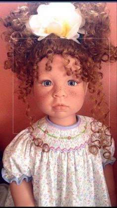 "15/"" Head DOLL WIG AUBURN WISPY Lee Middleton Wig Boy or Girl 13/"""