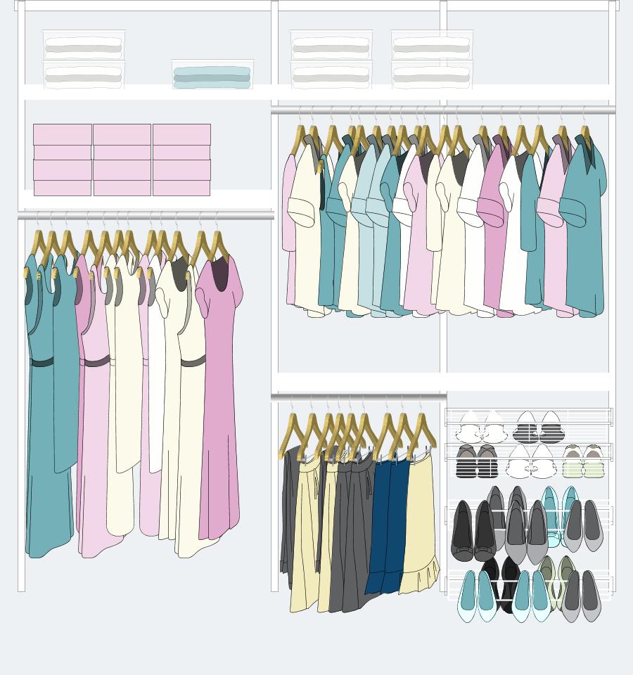 9 para colgar vestidos tapados camisas remeras - Ideas para armarios ...