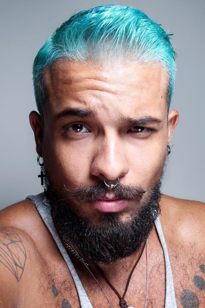 Blue dyed mens hair color | Colorful Hair | Pinterest | Mens hair ...