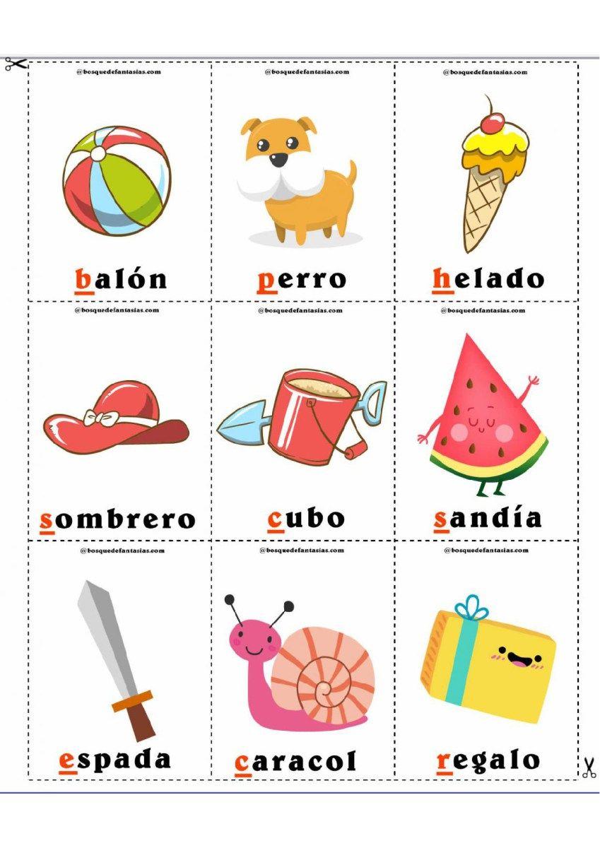 Loteria De Las Palabras Imagenes Educativas Loterias Para Ninos Ninos De Preescolar Material Didactico Para Ninos