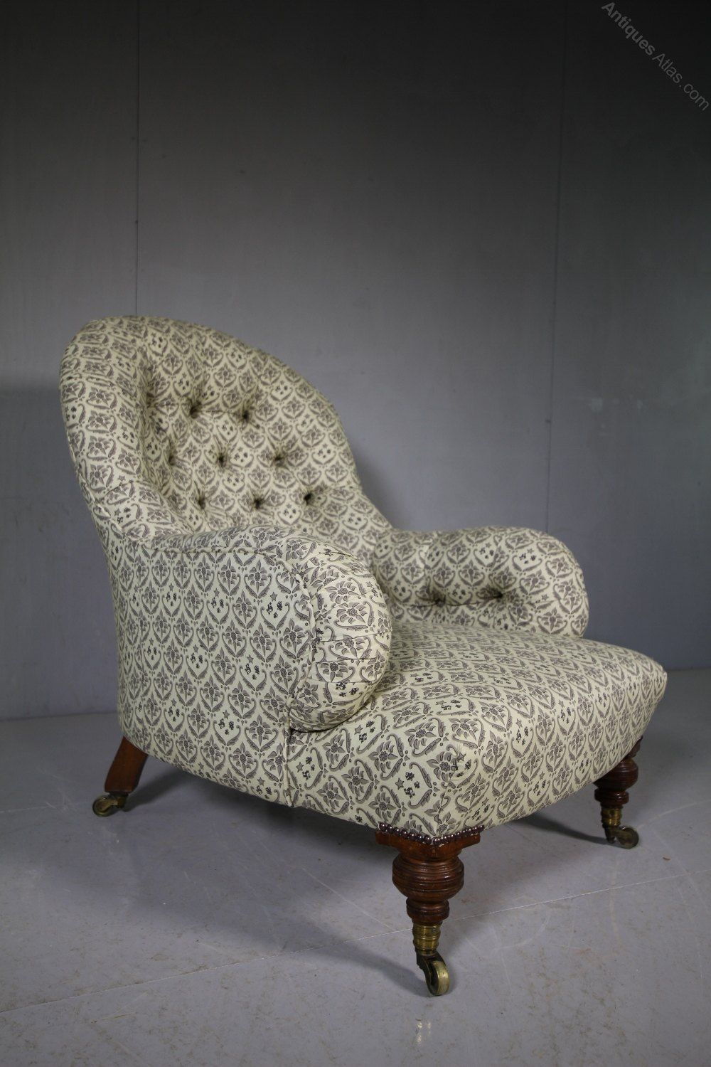 19th Century English Antique Howard Sons Armchair Antiques