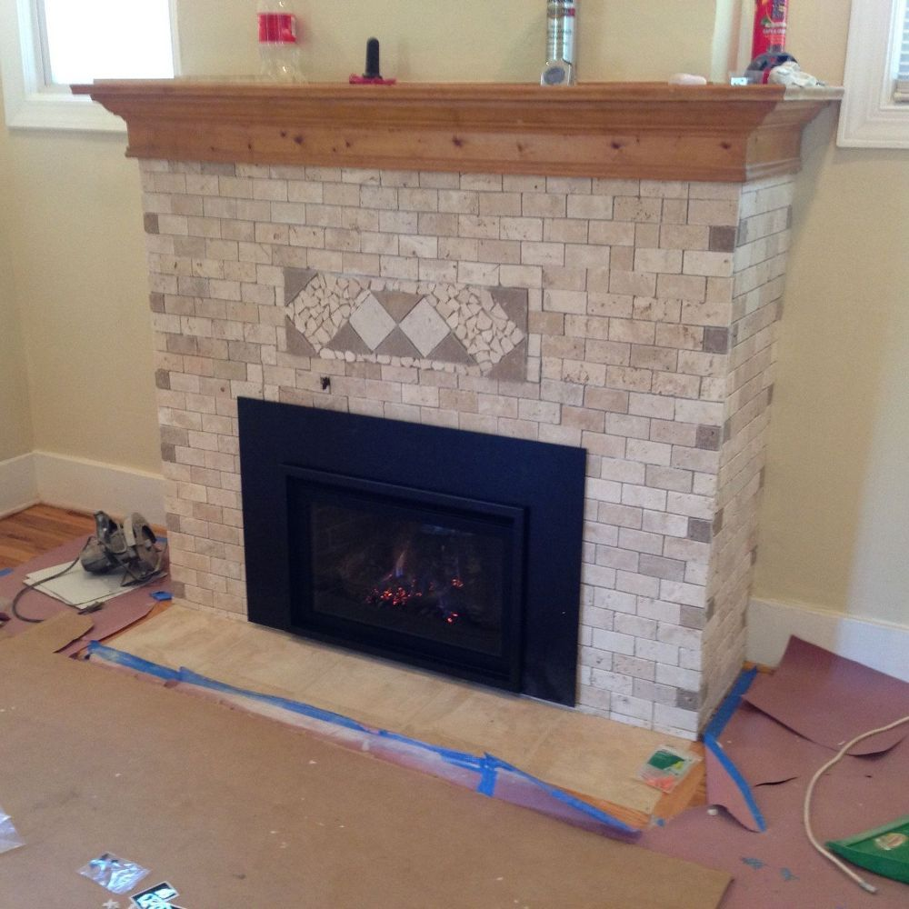 This fireplace makeover method just blew us away and no itus not