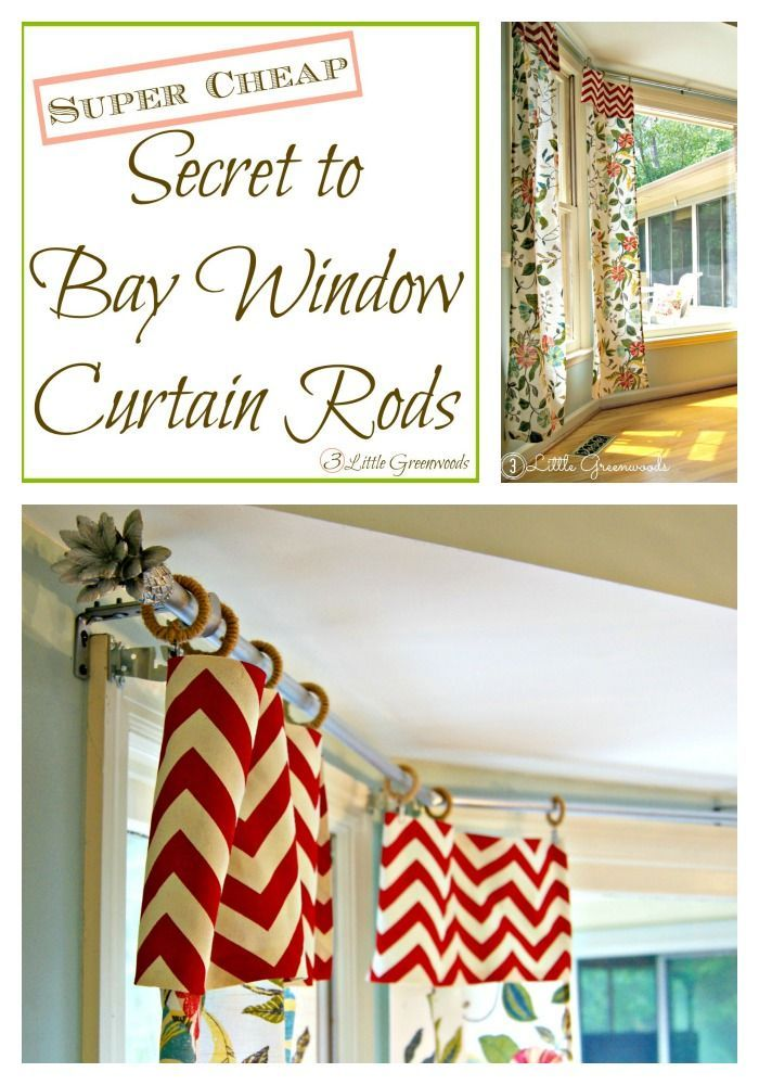 super cheap secret to diy bay window curtain rods from 3 little greenwoods