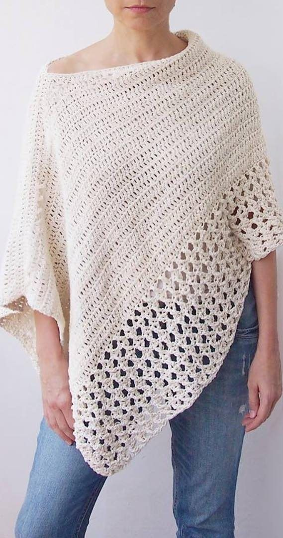28+ Easy Free Crochet Poncho Patterns Ideas for Women Crochet Projects 2019 - Page 30 of 34 #crochetclothes