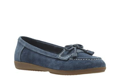 united kingdom newest style run shoes Clarks Feya Bloom, Navy Suede, Womens Smart Shoes | Gemma ...