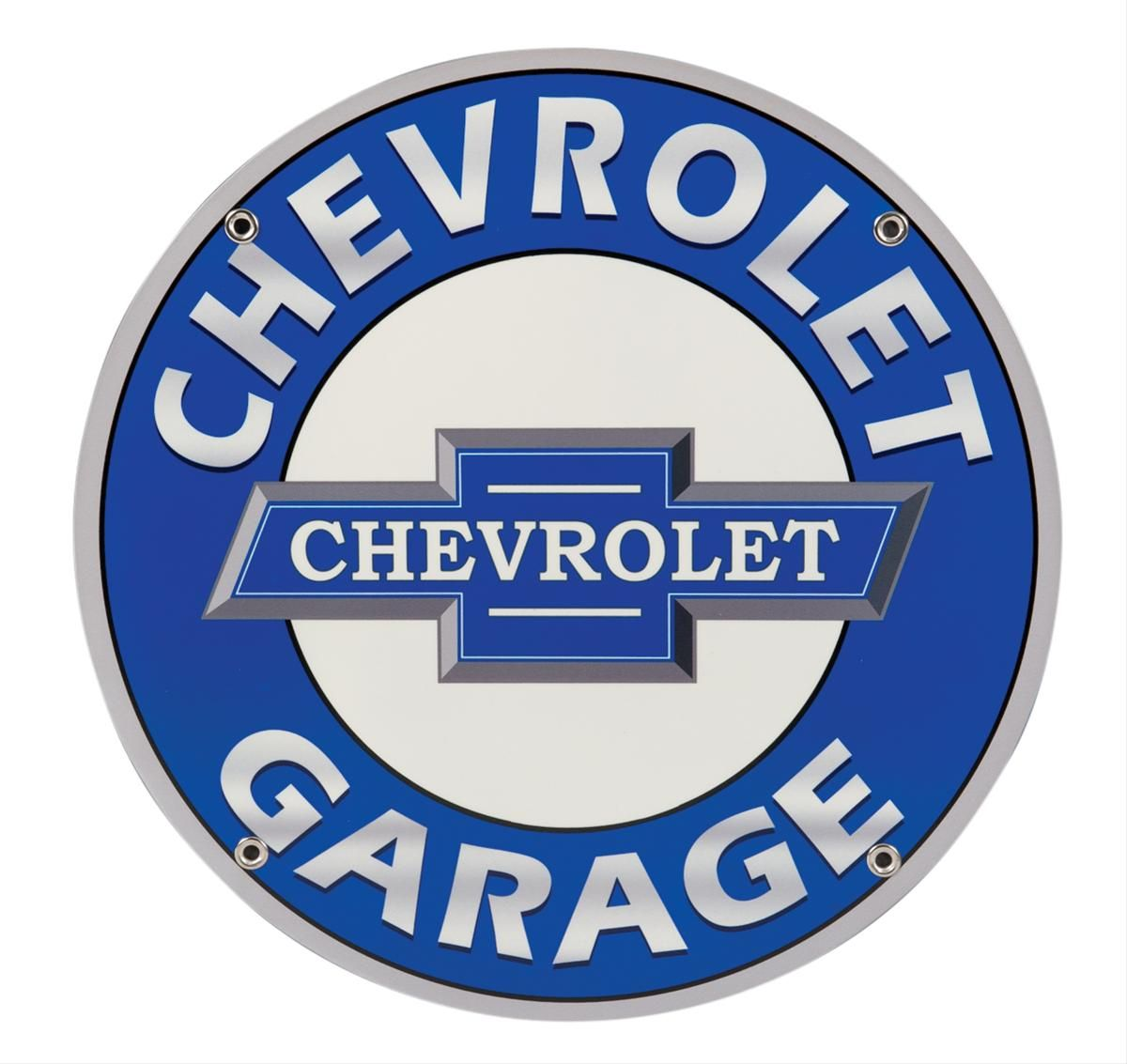 Double Sided Chevrolet Garage Sign With Bracket Garage Signs