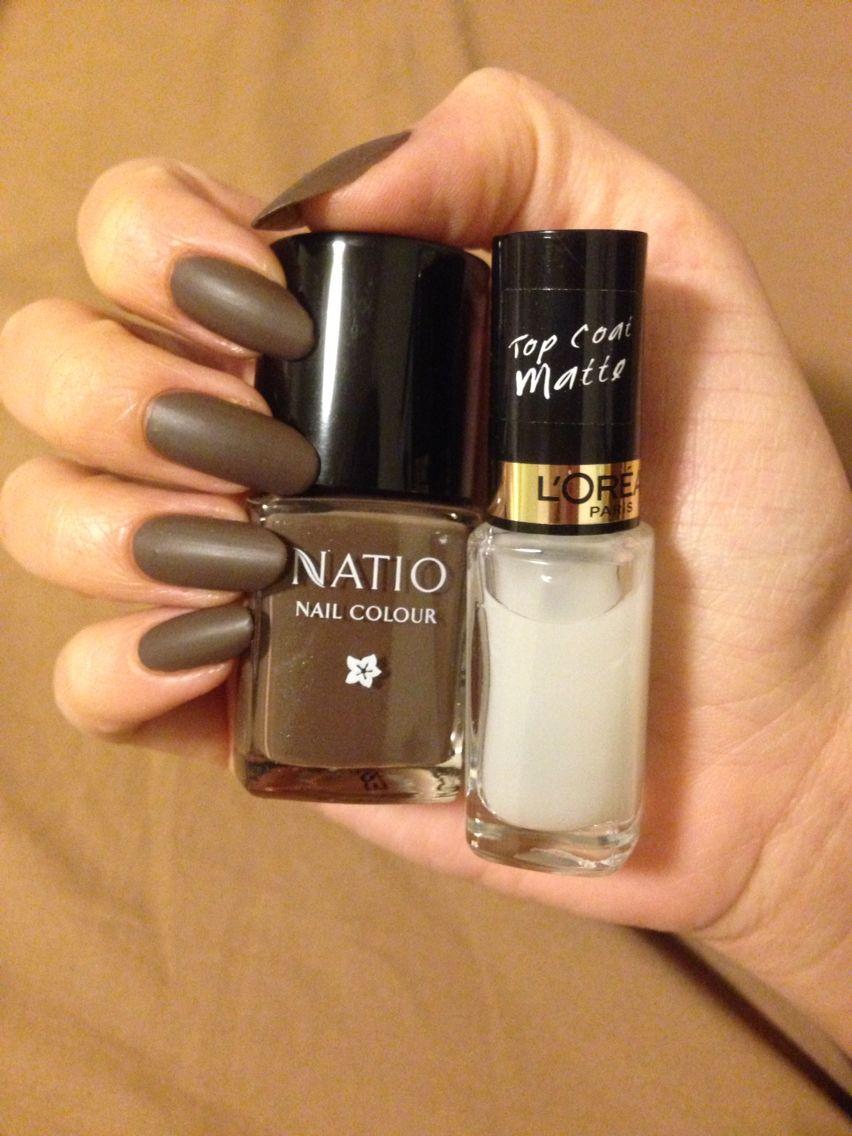 Simple Neutral Nails Natio Nail Colour Rapture Paired With L Oréal Matte Top Coat