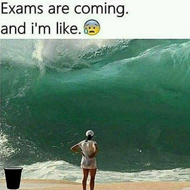 exam tension | Exam quotes funny, Exams memes