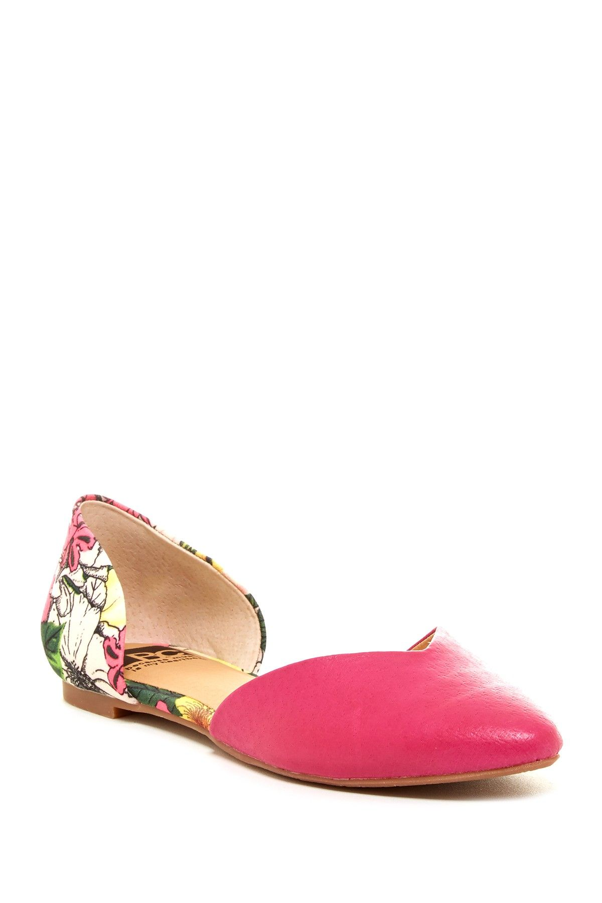 Up All Night Flat in magenta floral