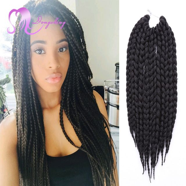 12 box braids hair 80gpack 3s freetress crochet box braid hot sale crochet font b twist b font hair box braid haar extension 24 inch pmusecretfo Images