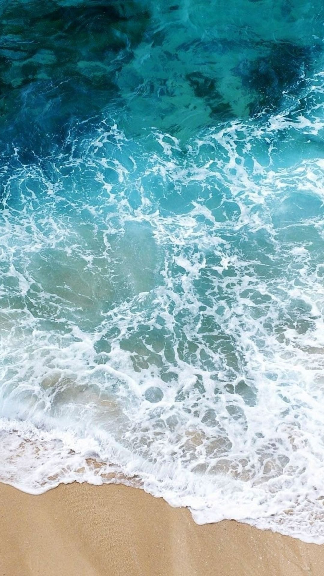 1080x1920 Wallpaper beach, sea, sand, water, transparent