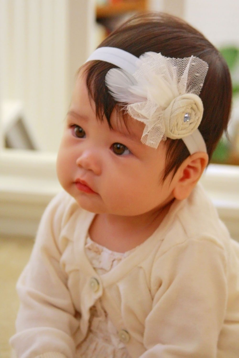 Unique couture baby headband - Angel Bebe 8838810d51b