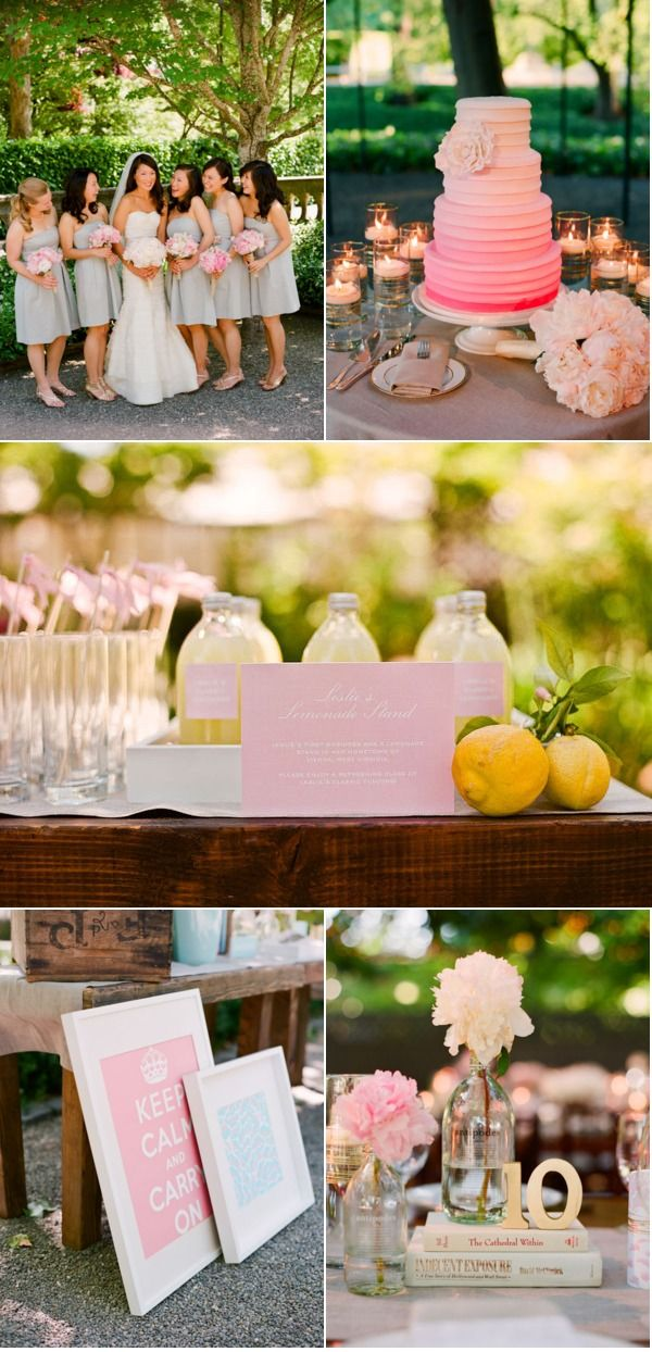 Love the ombre cake. Want this in yellow for my wedding!
