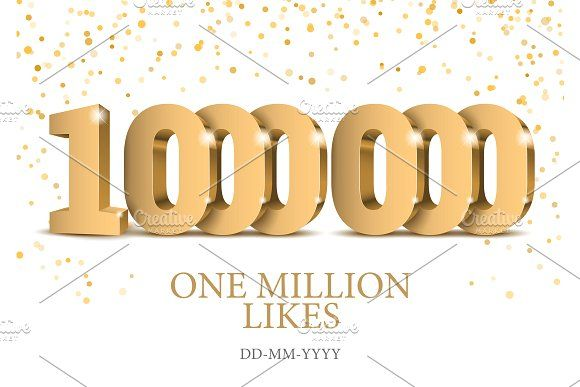 Anniversary or event 1000000. Gold by Sunny on @creativemarket