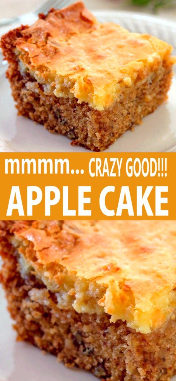 CREAM CHEESE TOPPED APPLE CAKE