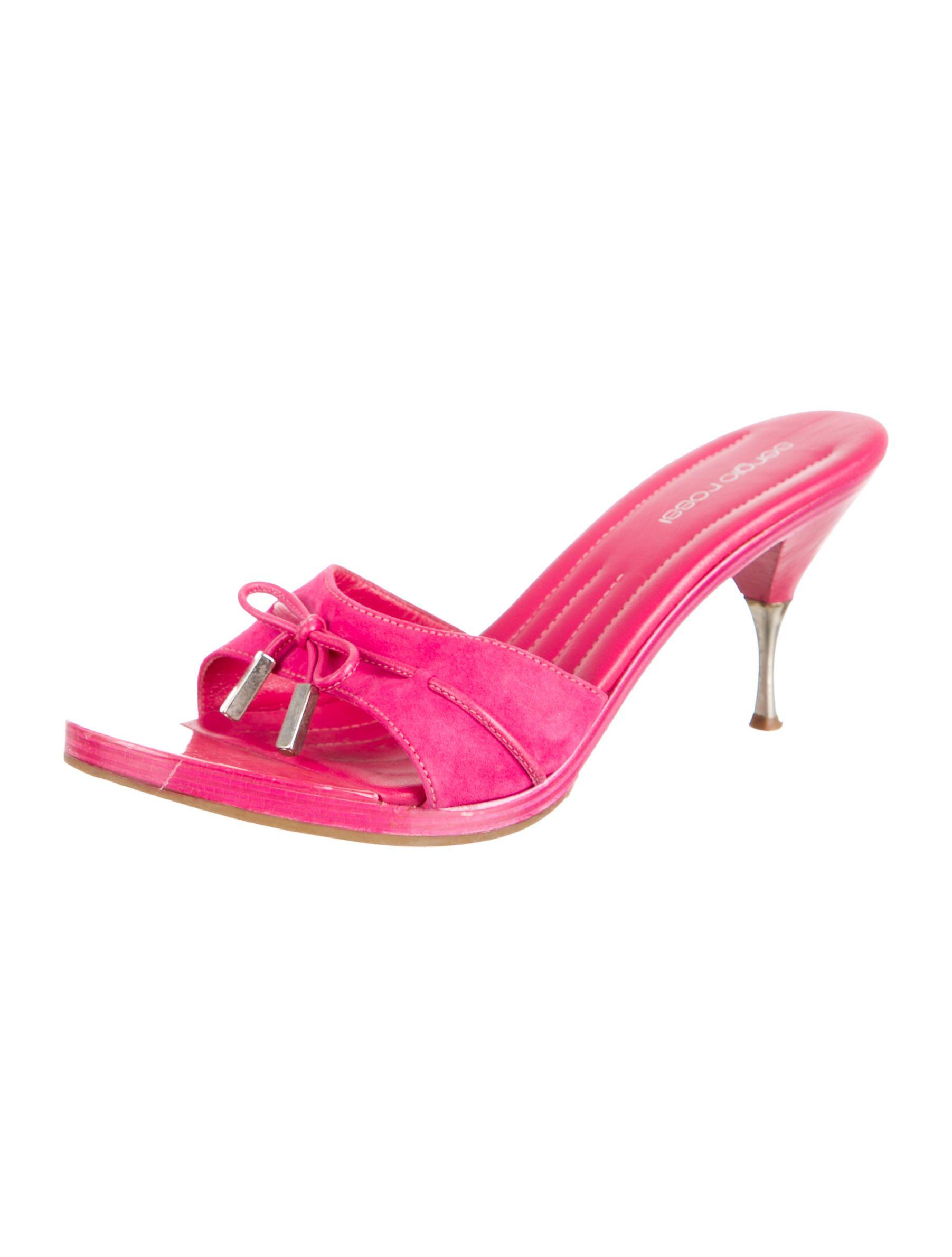 Sergio Rossi Suede Slide Sandals