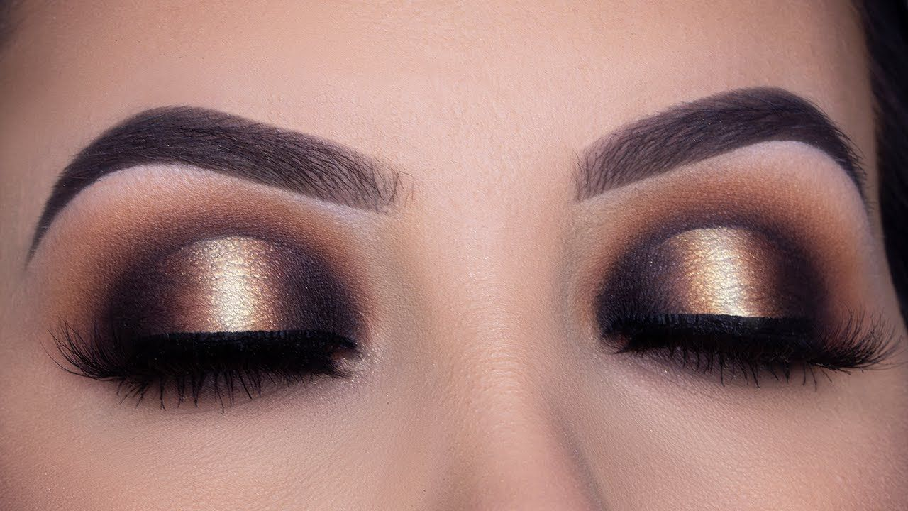 Black And Gold Smokey Halo Eye Makeup Tutorial Youtube Halo