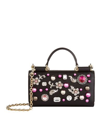 ... DOLCE GABBANA Embellished Dauphine Phone Bag. dolcegabbana bags crystal  leather competitive price e4c09 eef9f ... 3a1ffeb33069a