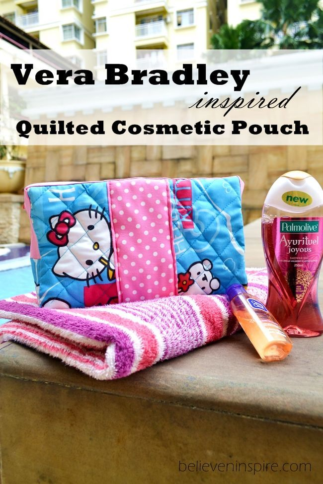Vera Bradley Inspired Quilted Toiletries/ Cosmetic Bags