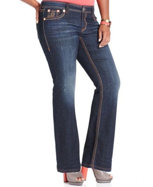 164c8e464b6 Seven 7 Jeans Destructed Plus Size Bootcut Jeans