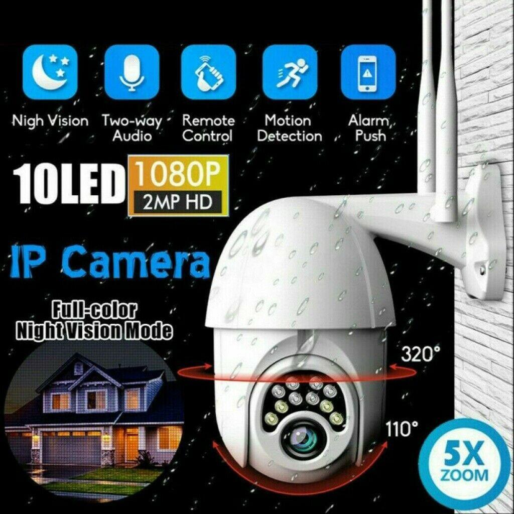 1080P HD IP Netzwerk CCTV Camera Außen Überwachungskamera Outdoor Funk Wlan Dome