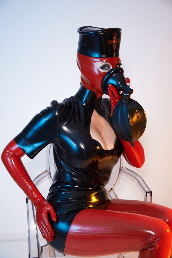 Bizarre rubber fetish