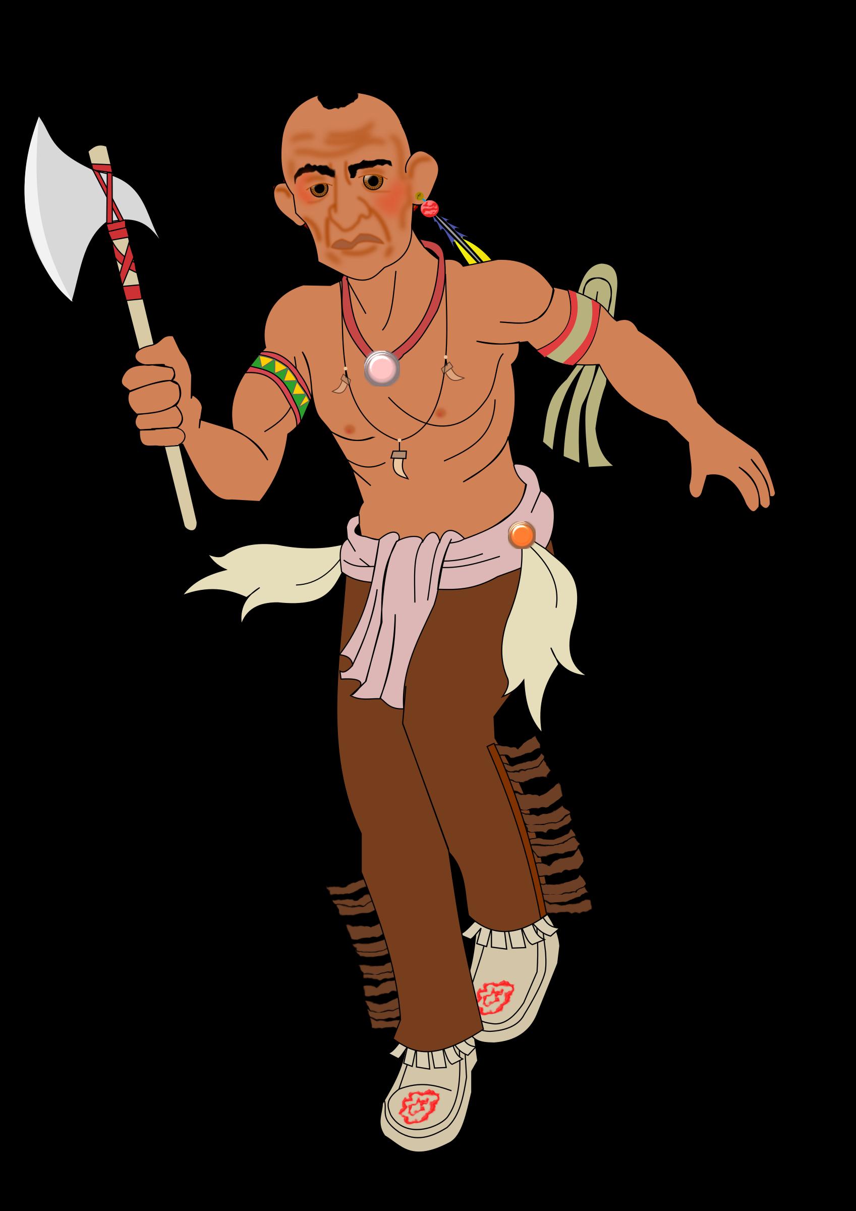 Веселые картинки про индейцев, открытка поздравление