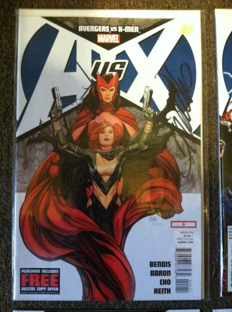 Avengers Vs X Men 0 7 Lot Signed By Frank Cho Scott Hanna Jim Cheung Mint Marvel Comics X Men