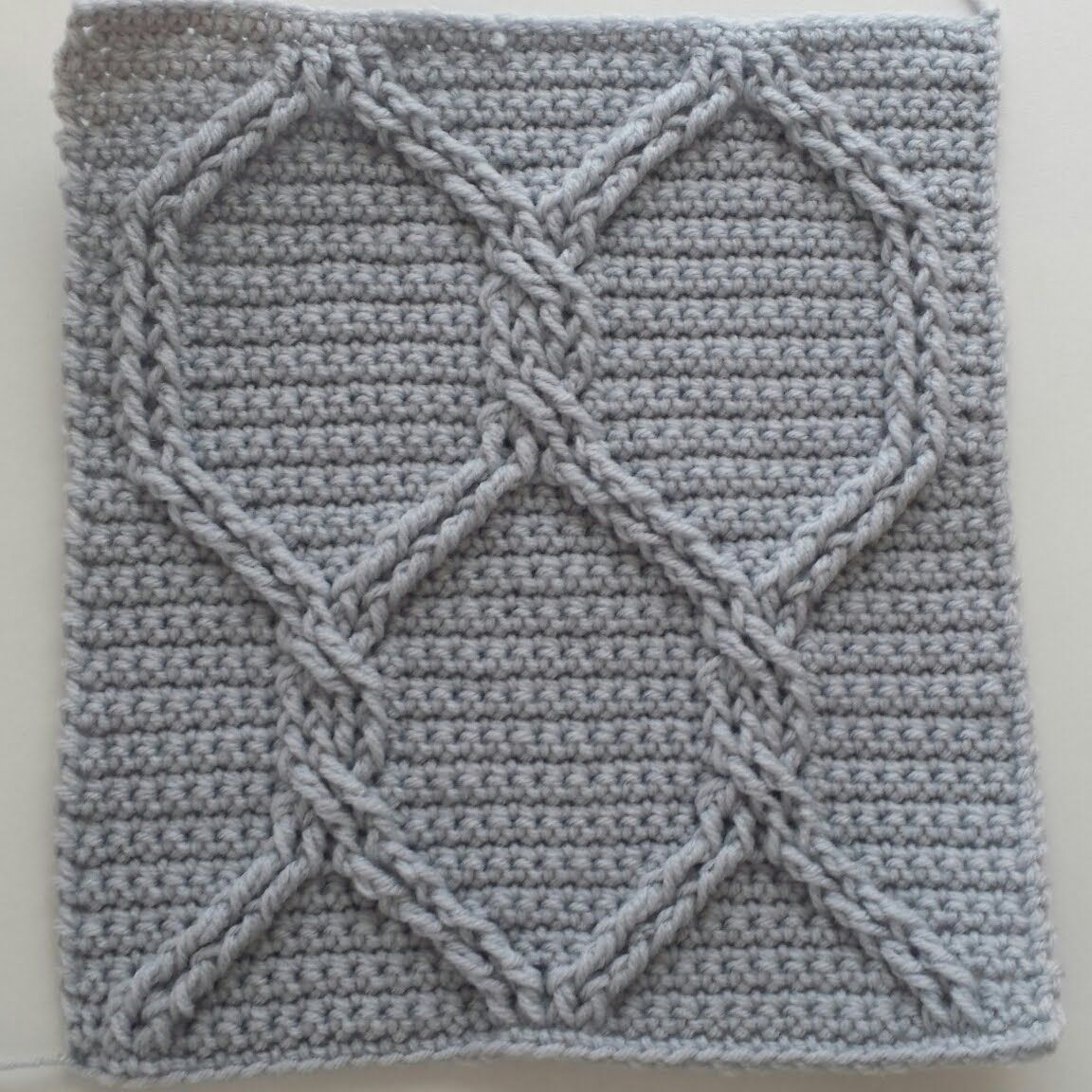 Crochet Cables Square 2: Chain Link Cables; part 2, rows 3 - 4 | 3 ...