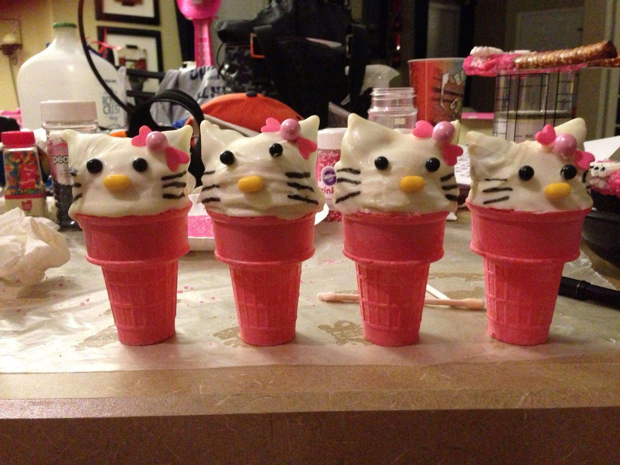 Hello kitty kiddie cake pop cones hello kitty kitty