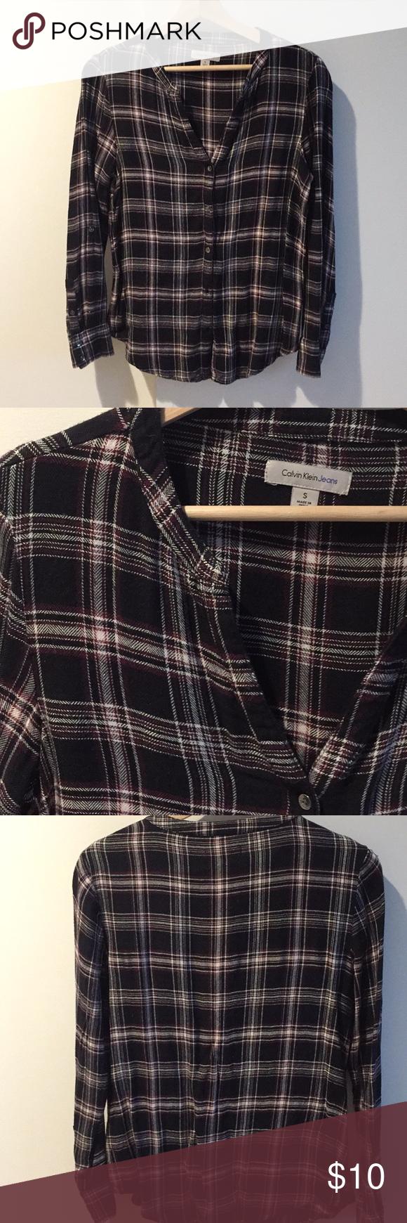 Flannel shirt jeans  Calvin Klein Jeans Flannel shirt sz S  My Posh Picks  Pinterest
