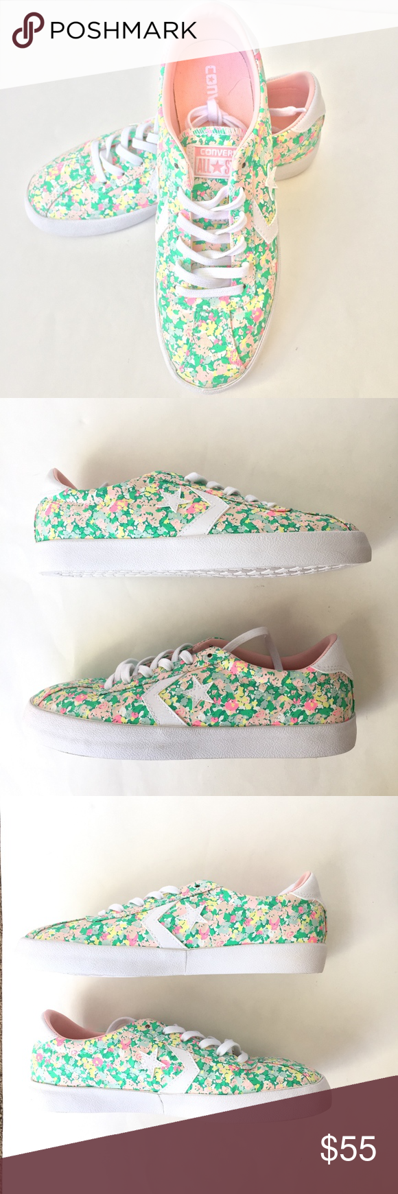 Converse Breakpoint Floral Sneaker Converse Womens Breakpoint Floral Low Top  Sneaker Menta  Vapor Pink  a4e1ef691