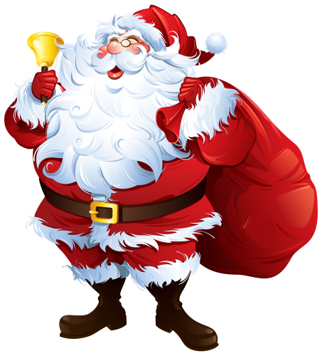 Santa Claus with Bell and Bag PNG Clipart The Best PNG