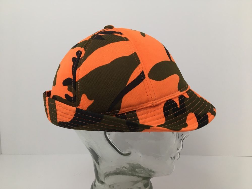 5c8732ff Vintage Duck Bay Camo Hat Blaze Orange Ear Flaps Insulated Hunting Hunter  Large #DuckBay