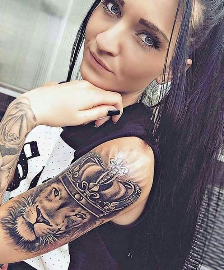Tattoo Women Pinterest Tattoos Lion Tattoo And King Tattoos