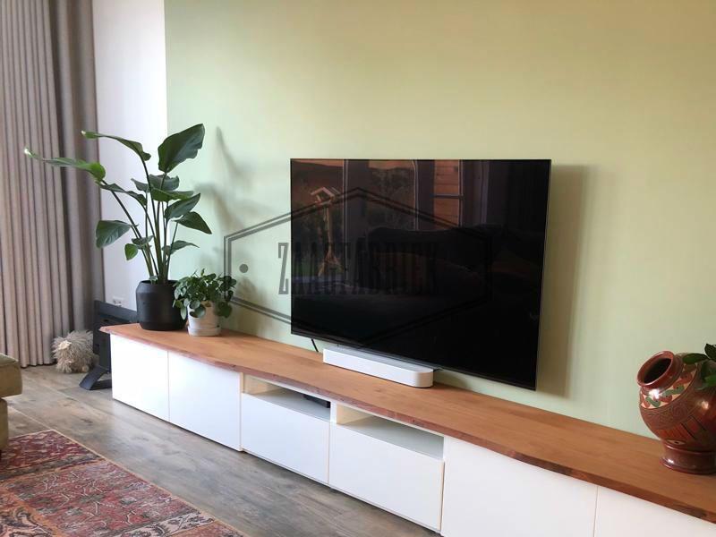Hardhouten Tv Kast.Pin Op Tv Meubels Met Houten Blad Besta Ikea