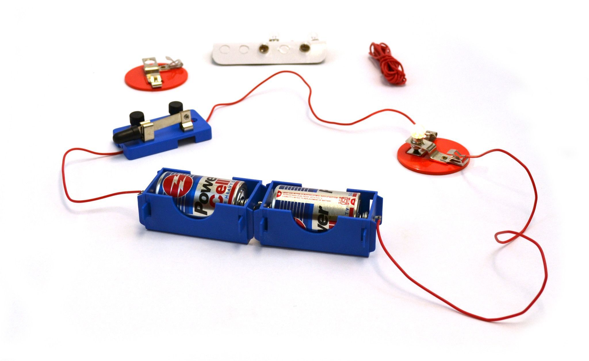 Eisco Labs Basic Beginner Circuit Kit For Teaching Series And Parallel Bulbs Are In Circuits Switch 2 C Batteries W Holders Light 5