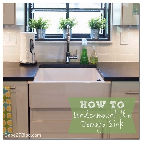 How To Undermount Ikea S Domsjo Sink Ikea Farmhouse Sink Ikea