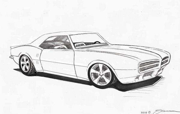 1968 Pontiac Firebird Car Drawings Art Cars Cars Coloring Pages