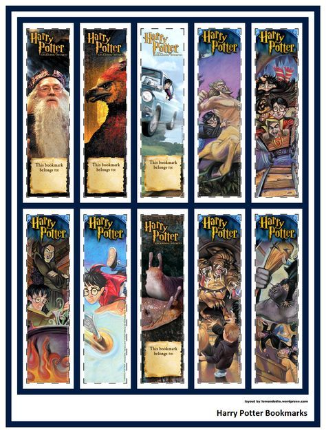 Photo of Harry Potter Bookmarks!