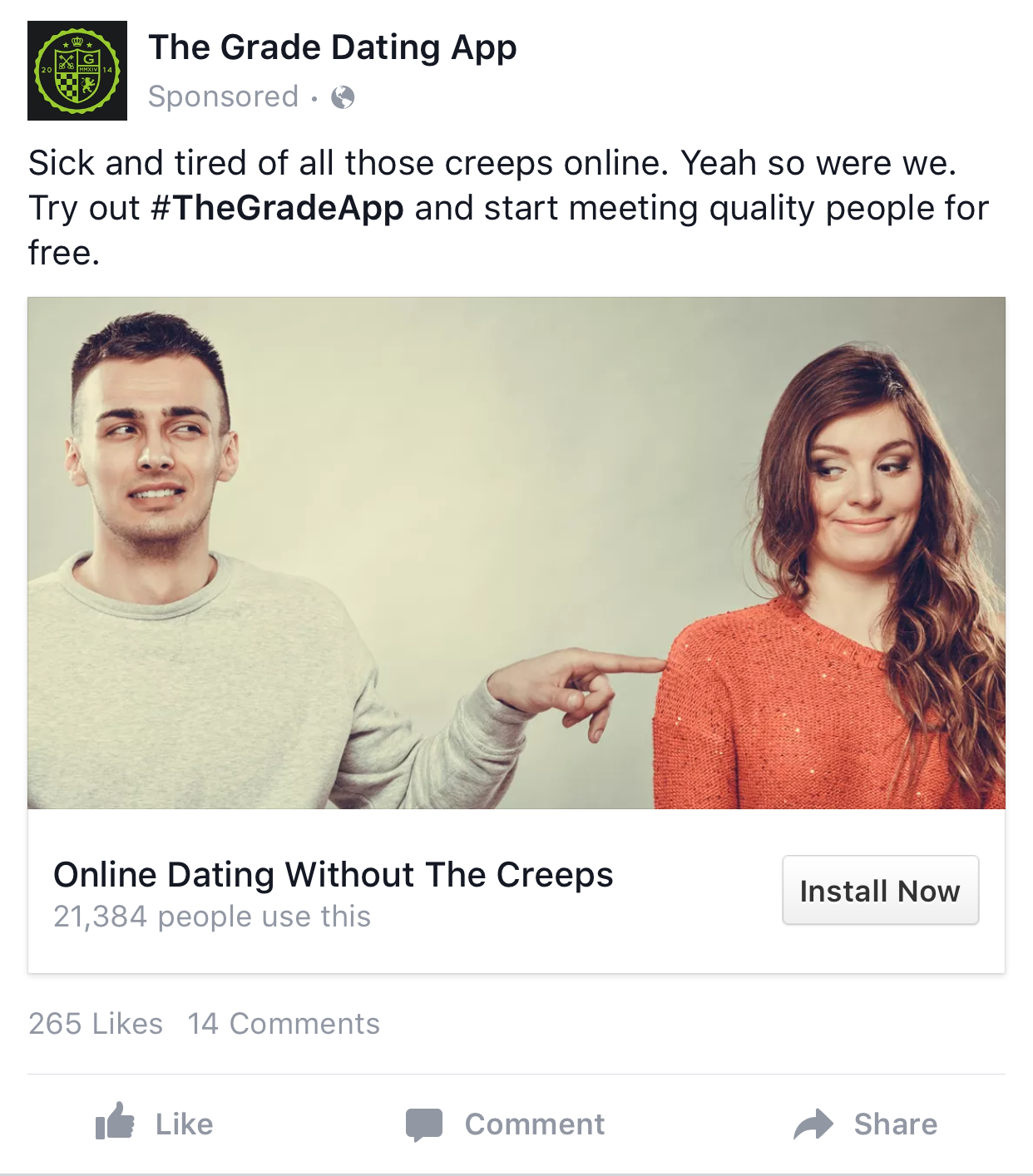 Online dating ads examples