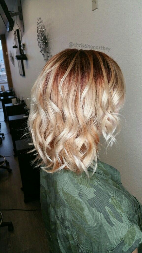 Red Shadow Root With Blonde Christinenorthey Bellazzasalon Roots Hair Blonde Hair With Roots Red Roots Blonde Hair