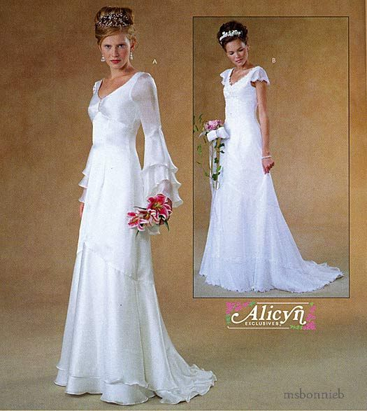 Bonnie Gowns Butterick Royal Wedding Dress Pattern For