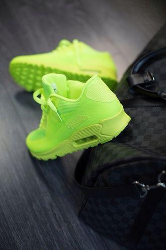 shoes neon air max nike bag bright