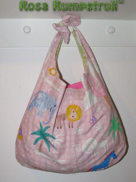 knotentasche beuteltasche f r kinder rosa rumpetroll leben und n hen in norw kinder. Black Bedroom Furniture Sets. Home Design Ideas