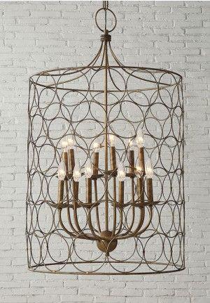 Gold Caged Chandelier|Gold Chandelier|Chicken Wire Light|Lighting ...